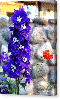 Canvas Print featuring the photograph Tahoe City Flower by Anne Raczkowski