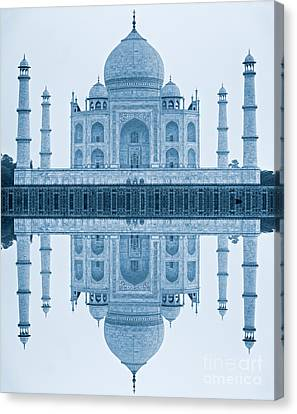 Canvas Print featuring the photograph Taj Mahal by Luciano Mortula
