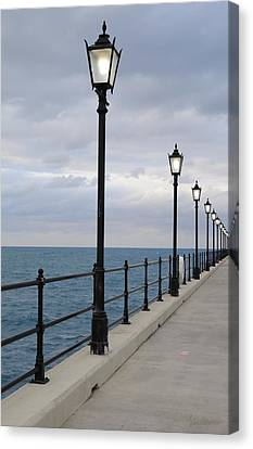 Lamp Post Canvas Print - Take A Stroll With Me by Luke Moore