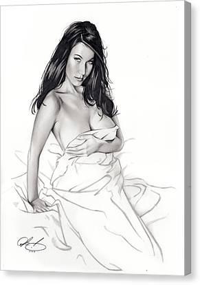 Take On Me Canvas Print by Pete Tapang