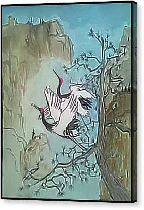 Canvas Print featuring the painting Taking Flight by Alethea McKee