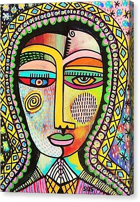 -talavera Virgin Of Guadalupe Miracles Canvas Print by Sandra Silberzweig
