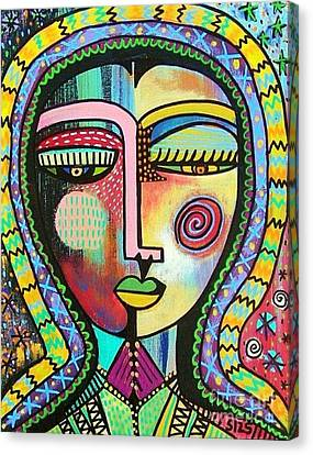 -talavera Virgin Of Guadalupe Protection Canvas Print by Sandra Silberzweig