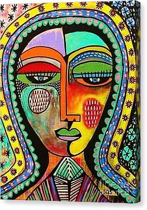-talavera Virgin Of Guadalupe Blessings Canvas Print by Sandra Silberzweig