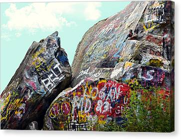 Talking Rocks And Sky Canvas Print by Susan Leggett