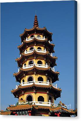 Tall Pagoda Canvas Print by Yali Shi