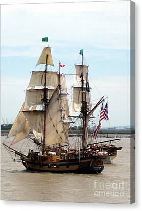 Tall Ship Canvas Print by Ming Yeung