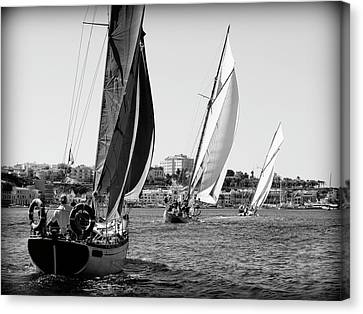 Canvas Print featuring the photograph Tall Ship Races 2 by Pedro Cardona