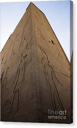 Tall Wall At Edfu Canvas Print by Darcy Michaelchuk