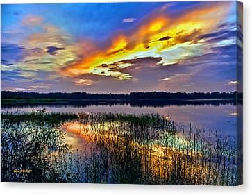 Talmadge Lake Florida Sunset Canvas Print