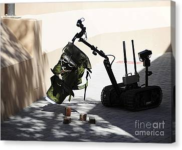Talon Remote-controlled Robot Canvas Print by Stocktrek Images