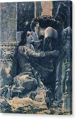 Tamara And The Demon Canvas Print by Pg Reproductions