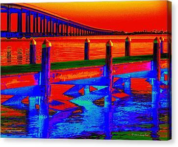 Tangerine Sound Canvas Print