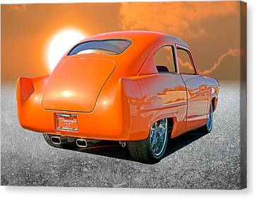 Tangerine Sunset Canvas Print by Stephen Warren