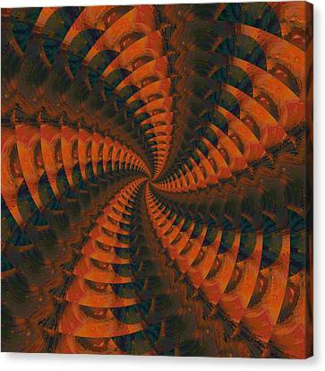 Tangerine Whirls Canvas Print by Bonnie Bruno