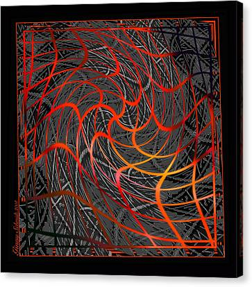 Tangled Web Of Lies Canvas Print by Ginny Schmidt
