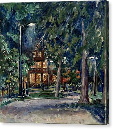 Shed Canvas Print - Tanglewood Nocturne by Thor Wickstrom