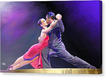 Tango Canvas Print by Carvil