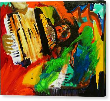 Canvas Print featuring the painting Tango Through The Memories by Keith Thue
