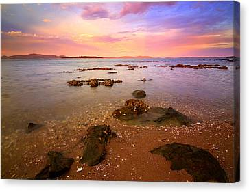 Canvas Print featuring the photograph Tanilba Bay Sunset by Paul Svensen