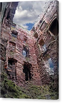 Canvas Print featuring the photograph Tantallon Castle by Rod Jones
