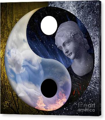 Canvas Print featuring the digital art Taodream by Rosa Cobos