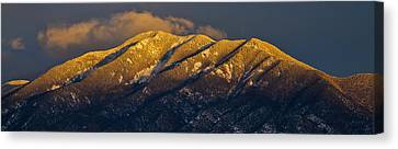 Taos Mountain Canvas Print by Atom Crawford