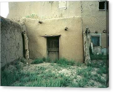 Taos Pueblo Door New Mexico Canvas Print by Elizabeth Sullivan