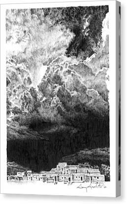 Taos Storm Canvas Print by Gary Gackstatter
