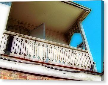 Canvas Print featuring the photograph Tap Room Balcony by MJ Olsen