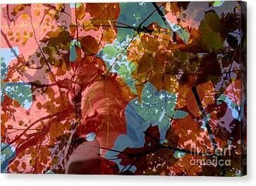 Tapestry Of Autumn 2 Canvas Print by France Laliberte