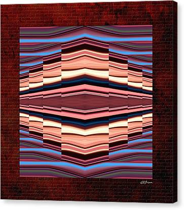 Tapestry On A Brick Wall Canvas Print