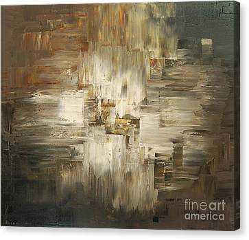 Canvas Print featuring the painting Tar And Tailings by Tatiana Iliina