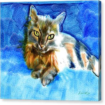 Tara The Cat Canvas Print