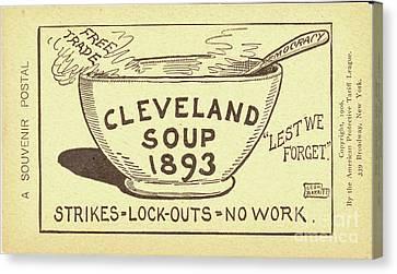 Tariff League Postcard, 1906 Canvas Print by Granger
