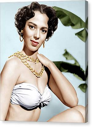 Tarzans Peril, Dorothy Dandridge, 1951 Canvas Print by Everett