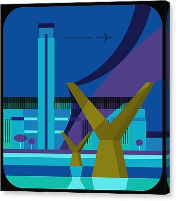 Tate Gallery And Millennium Bridge, London, United Kingdom Canvas Print by Nigel Sandor