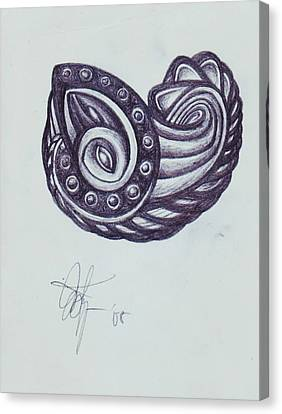 Tatoo 08 Canvas Print by Xole