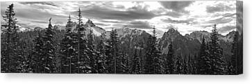 Tatoosh Mountain Range Panorama Canvas Print by Twenty Two North Photography