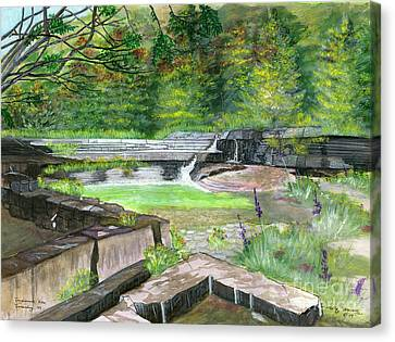 Canvas Print featuring the painting Taughannock Vista Ithaca New York by Melly Terpening