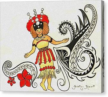 Taupou Samoa Canvas Print by Kristy Mao