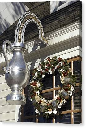 Tavern Tankard Sign Canvas Print by Sally Weigand