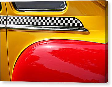 Jalopy Canvas Print - Taxi 1946 Desoto Detail by Garry Gay