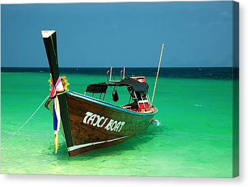 Flowers Names Canvas Print - Taxi Boat by Adrian Evans