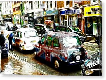 Taxi Please Canvas Print by Steve K
