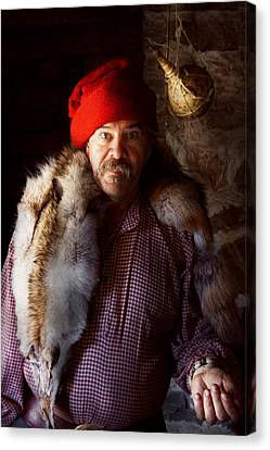 Taxidermist - Jaque The Fur Trader Canvas Print by Mike Savad