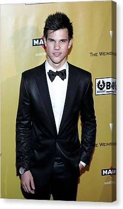 The Weinstein Company 2010 Golden Globes After Party Canvas Print - Taylor Lautner At The After-party by Everett