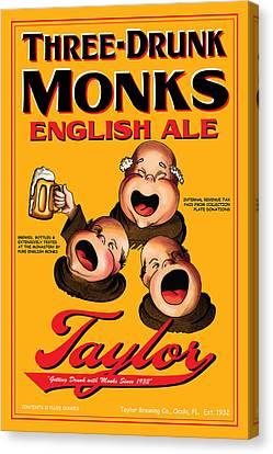 Taylor Three Drunk Monks Canvas Print by John OBrien