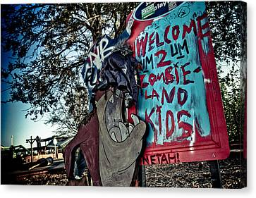 Taz Welcomes You To Zombie Land Canvas Print