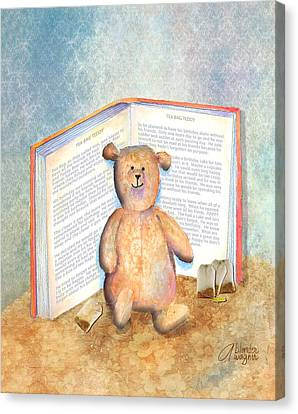 Tea Bag Teddy Canvas Print by Arline Wagner